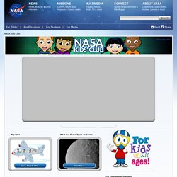 NASA Kids' Club Home Page