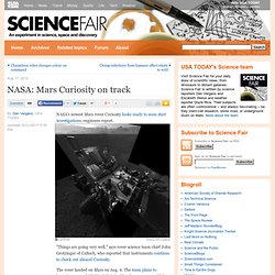 NASA: Mars Curiosity on track