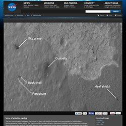 Scène d'un atterrissage martien