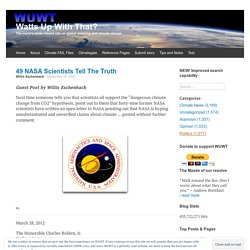 49 NASA Scientists Tell The Truth
