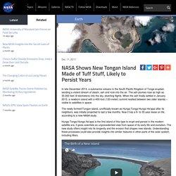 NASA Shows New Tongan Island Made of Tuff Stuff