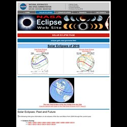 Solar Eclipse Page