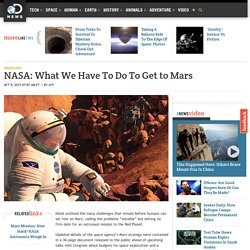 NASA: What We Have To Do To Get to Mars