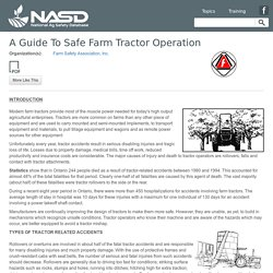 NASD - A Guide To Safe Farm Tractor Operation