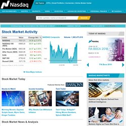 NASDAQ Stock Market - Stock Quotes - Stock Exchange News
