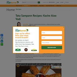 Potato Snacks Recipes - TATA Nutrikorner