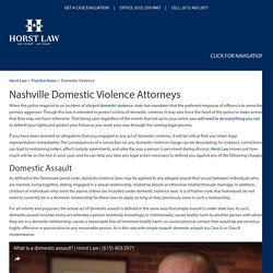 Nashville Domestic Violence Lawyer, Criminal Defense Attorneys