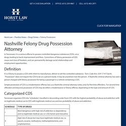 Nashville Felony Drug Possession Attorney, Criminal Defense Lawyer