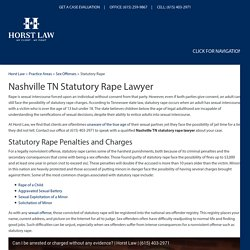 Nashville TN Statutory Rape Lawyer, Sex Offense Attorney