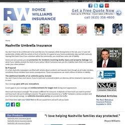 Umbrella Insurance Nashville