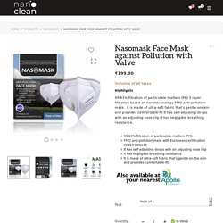 Nasomask Face Mask against Pollution with Valve