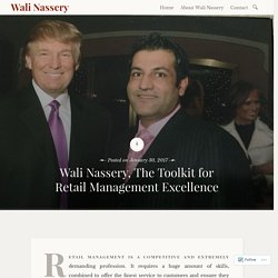 Wali Nassery, The Toolkit for Retail Management Excellence