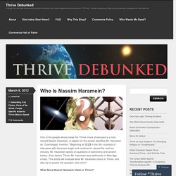 Who Is Nassim Haramein?