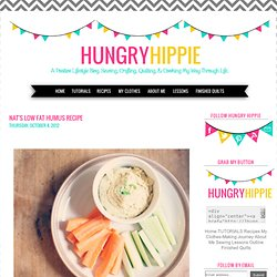 HUNGRYHIPPIE: Nat's low fat Humus Recipe
