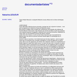 Natacha LESUEUR - Documents d'artistes PACA