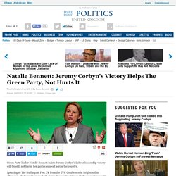 Natalie Bennett: Jeremy Corbyn's Victory Helps The Green Party, Not Hurts It
