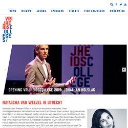Natascha van Weezel in Utrecht - Vrijheidscolleges - dochter van @maxnanet Max van Weezel