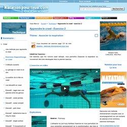 Natation pour tous : apprendre à nager le crawl exercice 2