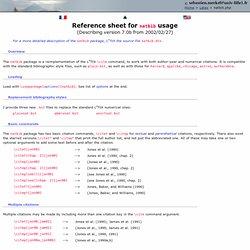 Natbib reference sheet