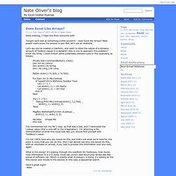 Nate Oliver's blog