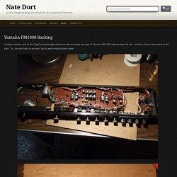 Nate Dort » Yamaha PM1000 Racking