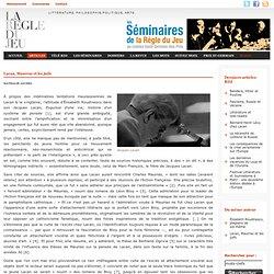 Nathalie Jaudel, Lacan, Maurras et les juifs