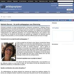 Nathalie Darnois : Un jardin pédagogique avec Etwinning