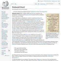 Nathaniel Ward