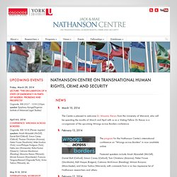 Nathanson Centre on Transnational Human Rights, Crime and Security