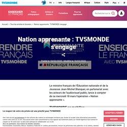 Nation apprenante : TV5MONDE