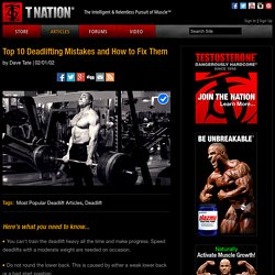 Top 10 Deadlifting Mistakes and How to Fix Them