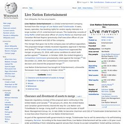 Live Nation Entertainment - Wikipedia