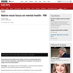 Nation must focus on mental health - PM