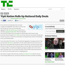 Yipit Nation Rolls Up National Daily Deals