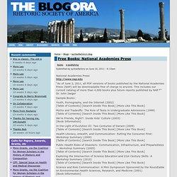 Free Books: National Academies Press