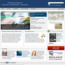 The National Academies: Advisers to the Nation on Science, Engin