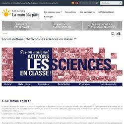 """Forum national """"Activons les sciences en classe !"""""""