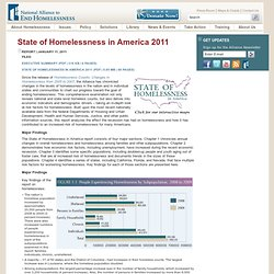 National Alliance to End Homelessness: Library: State of Homelessness in America 2011