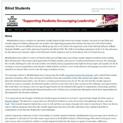 The National Alliance of Blind Students