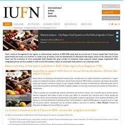 IUFN 29/06/15 Rapport IUFN - Nourrir les territoires de demain. Portrait des enjeux français.