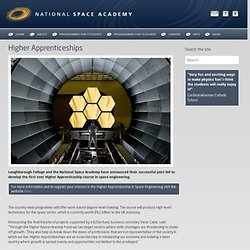 National Space Academy - Higher Apprenticeships