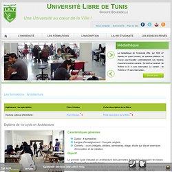 Diplôme National d'Architecte – Université Libre de Tunis