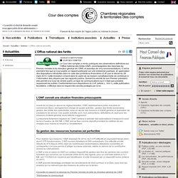 COUR DES COMPTES 24/09/14 Rapport sur l'ONF