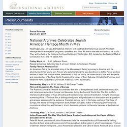 National Archives Celebrates Jewish American Heritage Month in May