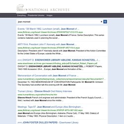 jean monnet - National Archives Search Results
