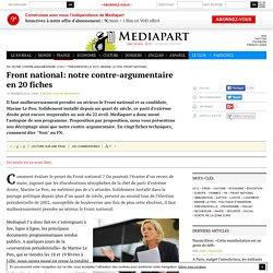 Front national: notre contre-argumentaire en 20 fiches