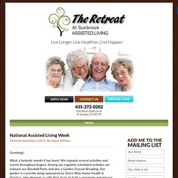 National Assisted Living Week -