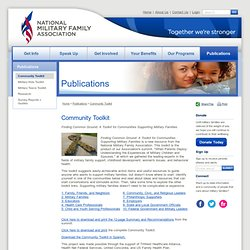 National Military Family Association: Community Toolkit