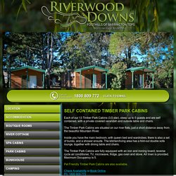 Range of accommodation options at Barrington Tops