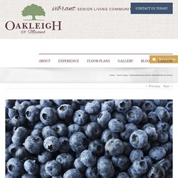 National Blueberry Month: Health Benefits for Seniors